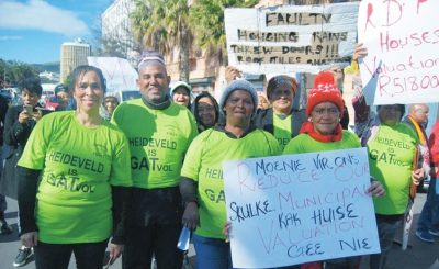 Heideveld protesters demand better housing